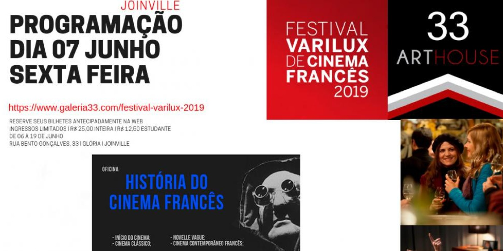 A 33Arthouse recebe no mês de junho o maior festival de cinema francês do mundo